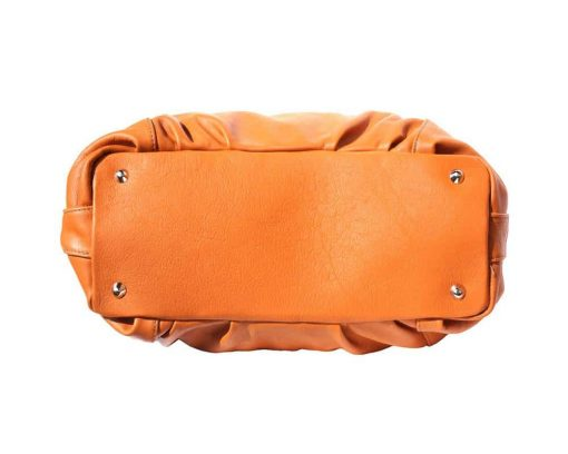 tan shoulder bag in soft structure in genuine leather from italy