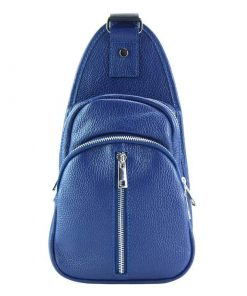 light blue small single backpack
