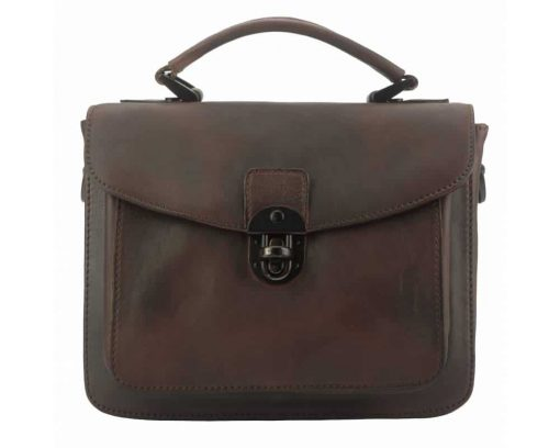 bag for woman in vintage leather from italy