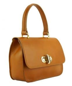 tan bag Malivina in genuine leather from italy fashion for women