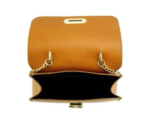 tan bag Malivina in genuine leather from italy for women