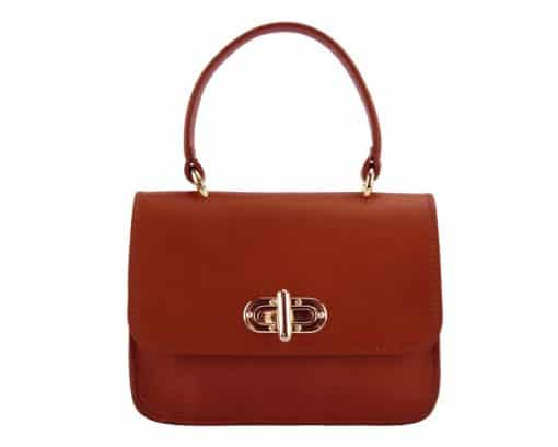 red bag Malivina in leather for women