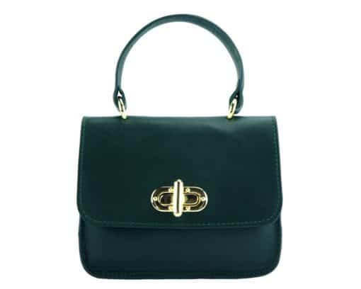green bag Malivina in leather for women