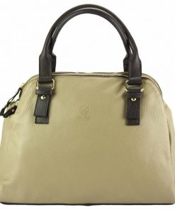 light taupe dark brown bag for woman