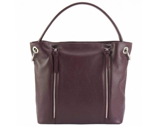 bordeaux shoulder bag in leather from italy anita