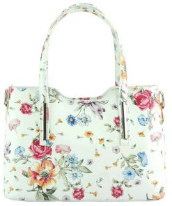 handbag with flowers from italy from italy