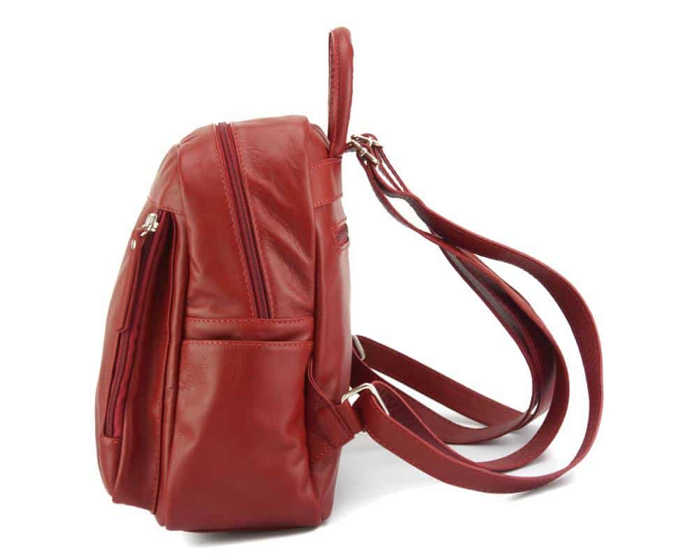 red backpack small for woman