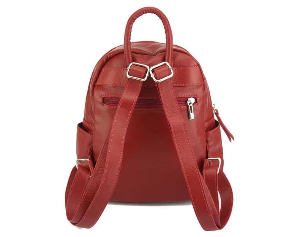 red backpack small