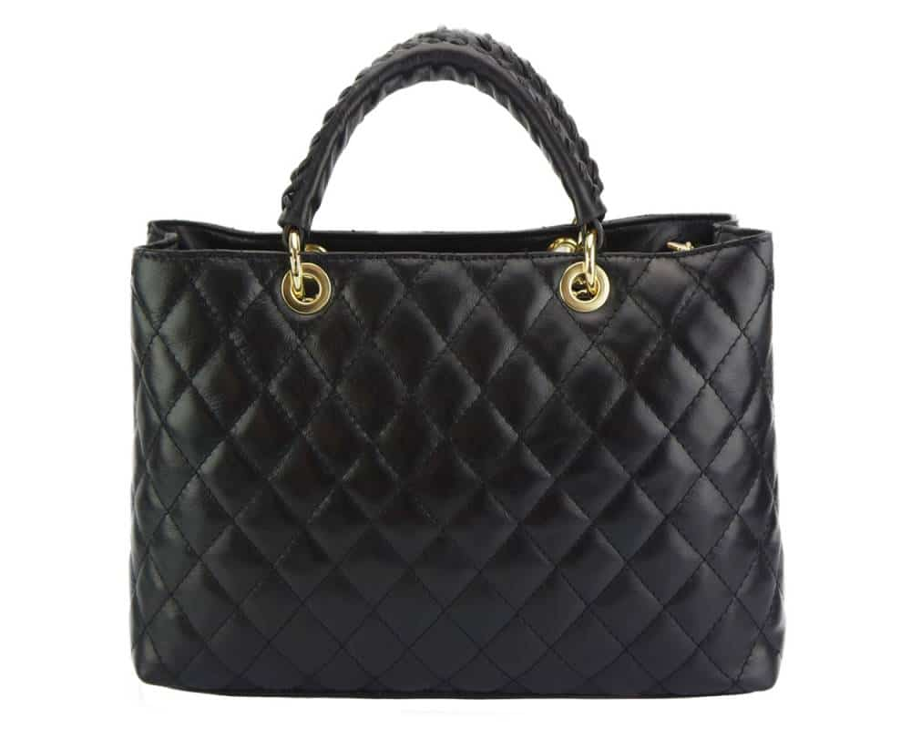 black leather handbag for woman