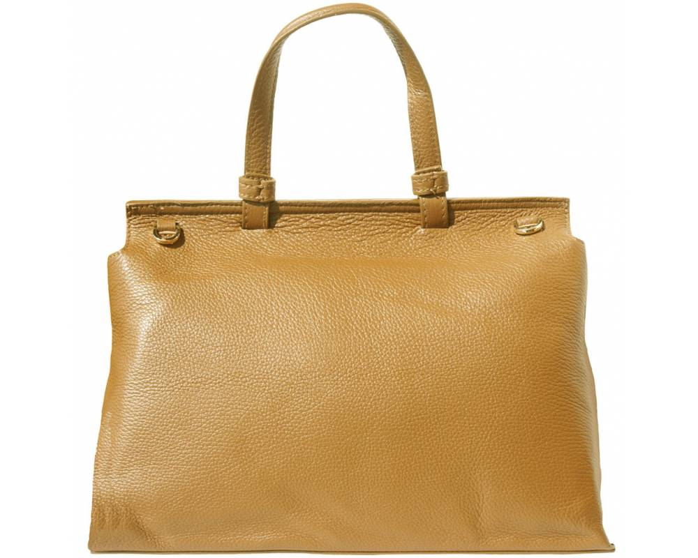 tan handbag for women small of natural leather marta