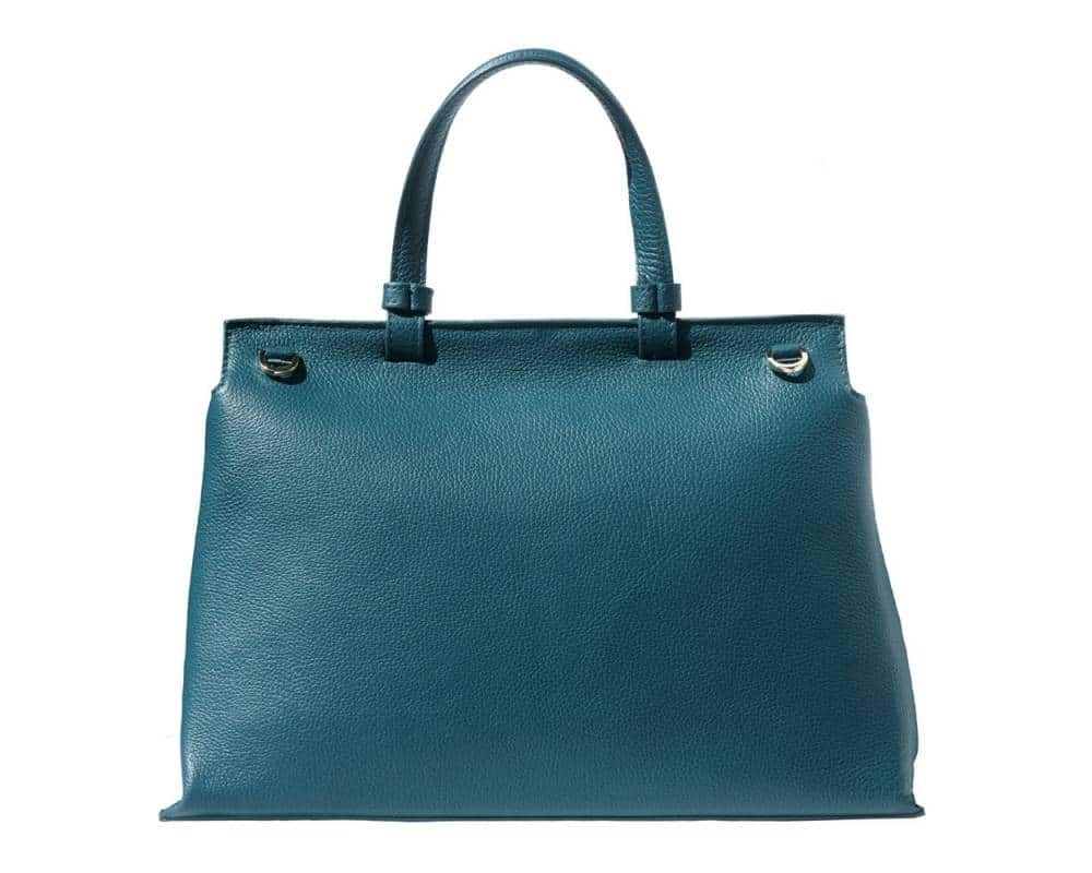 turquoise handbag for women of natural leather marta