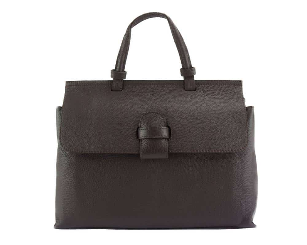 black handbag for women small of natural leather marta
