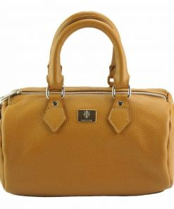 tan handbag sofia of leather