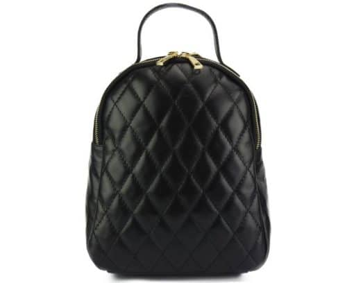 black color backpack barbara in quilted leather for woman