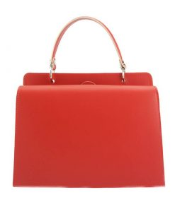 red bag bettia in natural leather for woman