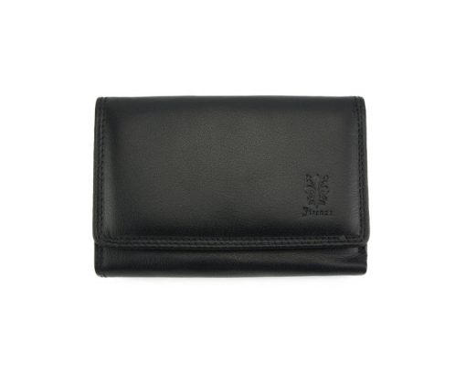 black wallet in genuine leather adela for woman