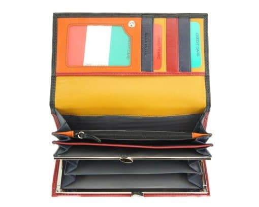 black wallet augusta in genuine leather for woman