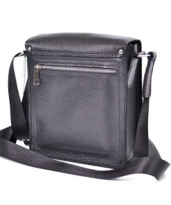buy italian black messenger in natural leather Franco super sell discount for men