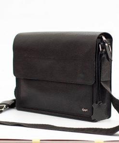buy italian black cross body bag in genuine leather Franco super sell discount for men