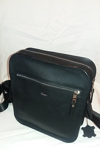 cross body bag from genuine leather Boris colour black photos fashion discounts from italy for women