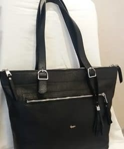 handbag from genuine leather Anastasia colour black good leather for women