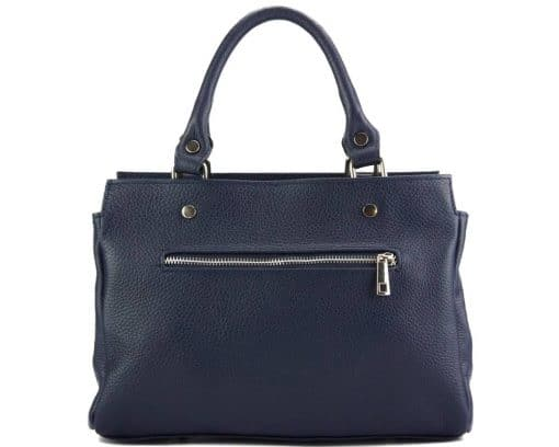handbag from genuine leather Borislava colour dark blue made in italy for women