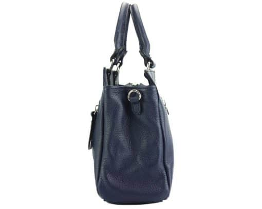 handbag from genuine leather Borislava colour dark blue for women
