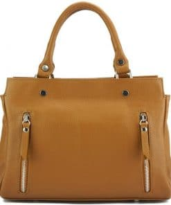 handbag from genuine leather Borislava colour tan photos modern for women