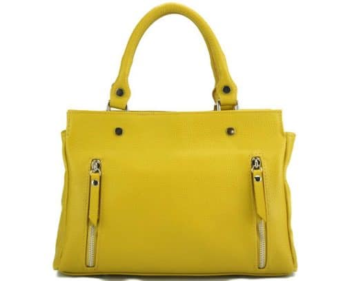 handbag from genuine leather Borislava colour yellow photos modern for women