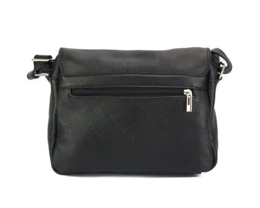 cross body bag Estera from genuine leather colour black photos unisex
