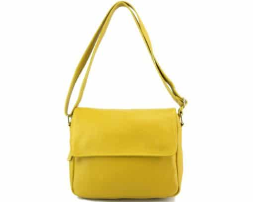 cross body bag Estera from genuine leather colour yellow photos for men