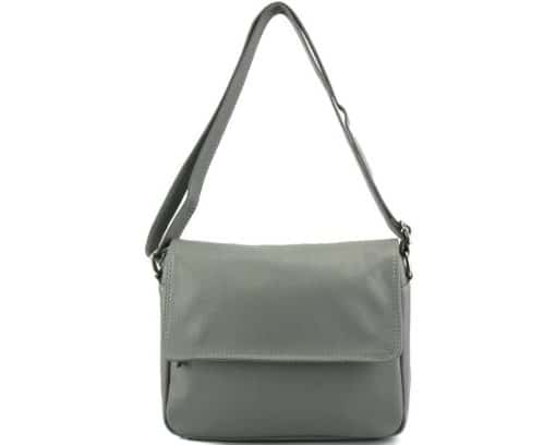 cross body bag Estera from genuine leather colour grey photos for men