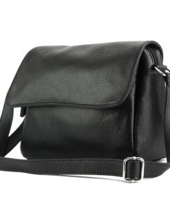 cross body bag Estera from genuine leather colour black from italy photos for men