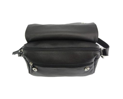 cross body bag Estera from genuine leather colour black from italy for men