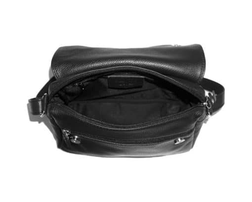 cross body bag Estera from genuine leather colour black for men