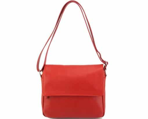 cross body bag Estera from genuine leather colour light red for women