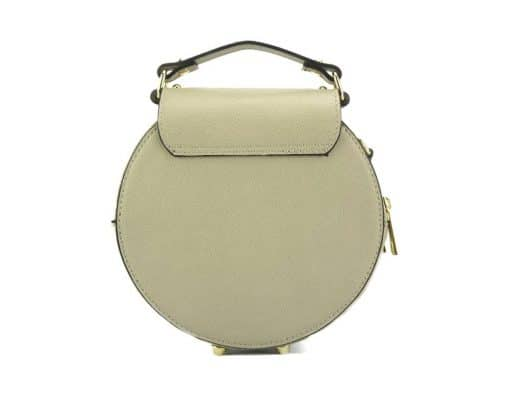 round styleish modern fashion cross body bag from genuine leather colur light taupe photos for women
