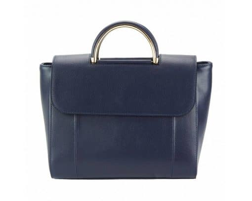 dark blue bag Martina in leather for women
