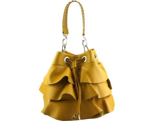 stylish bag Liliana in genuine leather colour yellow from italy discount for women