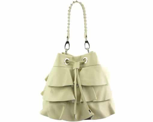 stylish bag Liliana in genuine leather colour beige from italy discount for women