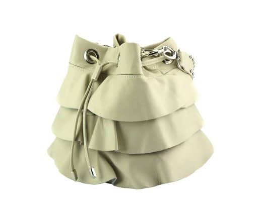 stylish bag Liliana in genuine leather colour beige from italy for women