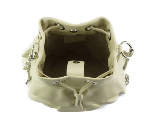 stylish bag Liliana in genuine leather colour beige photos for women