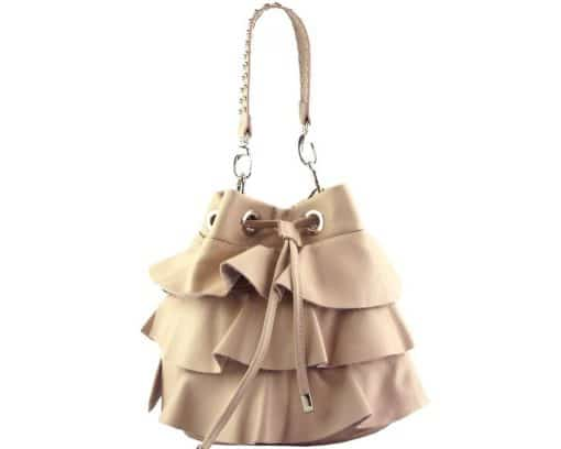 stylish bag Liliana in genuine leather colour pink for women