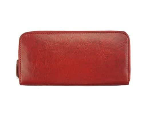 dark red wallet Nadejda in genuine leather from Italy for women