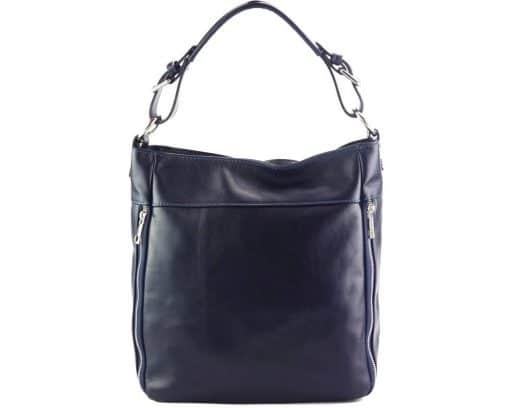 blue shoulder bag Anatolia from genuine leather from italy for women