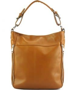 tan shoulder bag Anatolia from genuine leather from italy for women
