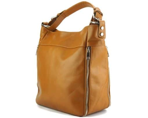 tan shoulder bag Anatolia from genuine leather for women