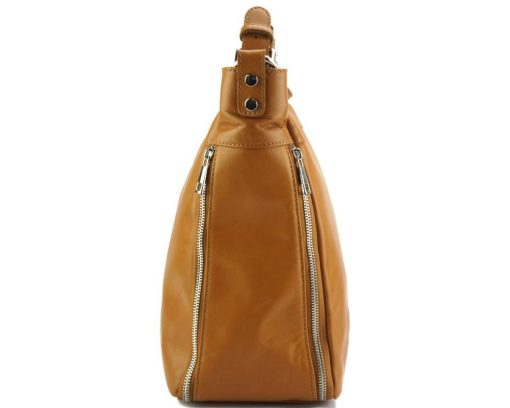 tan shoulder bag Anatolia from leather for women