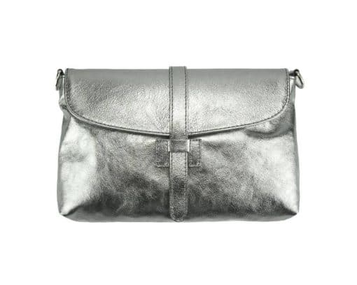 silver clutch Malaysia from genuine leather from italy modern for women