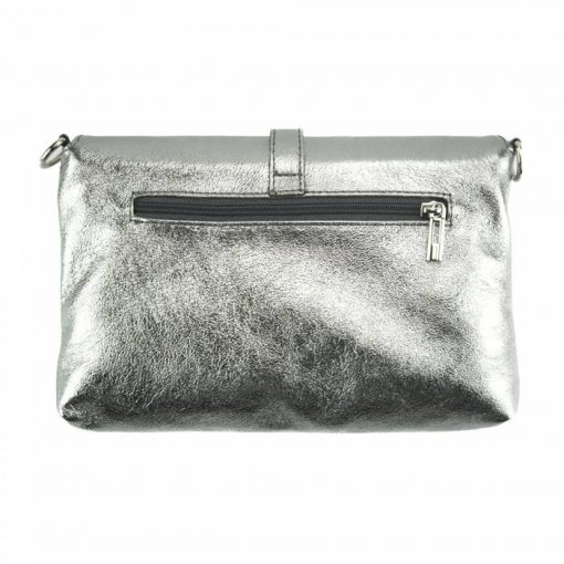 silver clutch Malaysia from genuine leather from italy for women